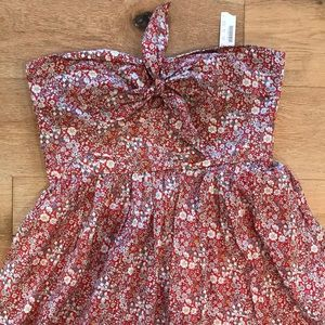 Women's strapless NWT jcrew summer floral dress